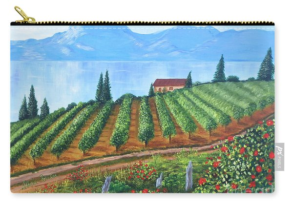 Lakeside Vineyard Carry-all Pouch