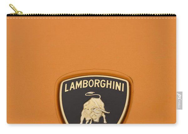 Lambo Hood Ornament Orange Carry-all Pouch