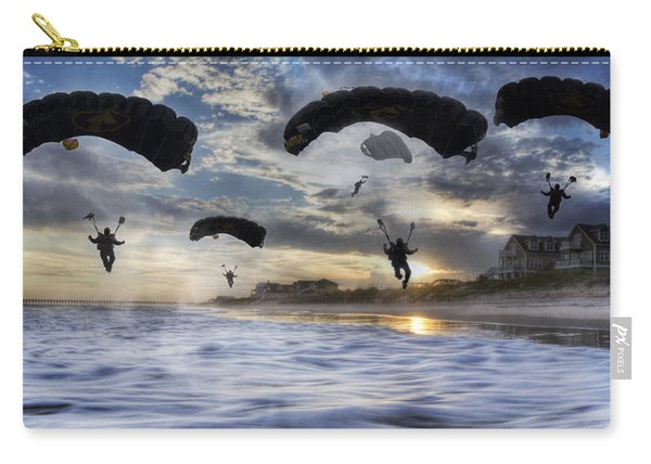 Landing At Sunset Carry-all Pouch