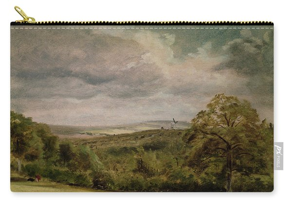 Landscape With A Windmill Oil On Paper On Millboard Carry-all Pouch