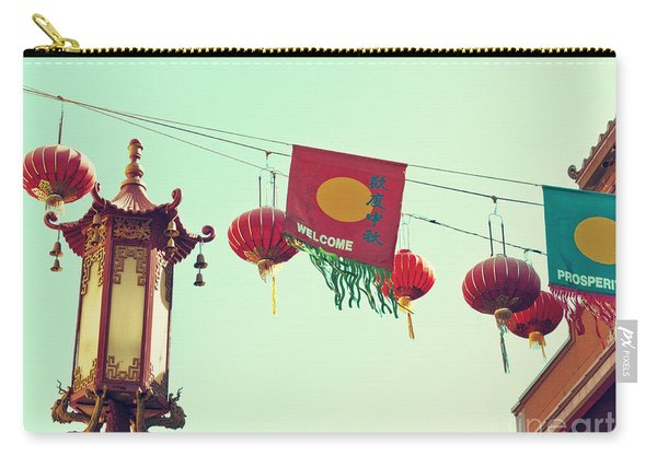 Lanterns Over Chinatown Carry-all Pouch