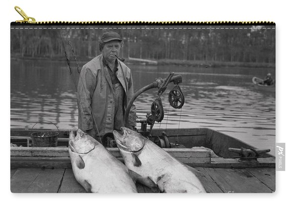 Large King Salmon Moss Landing Monterey California  Circa 1955 Carry-all Pouch