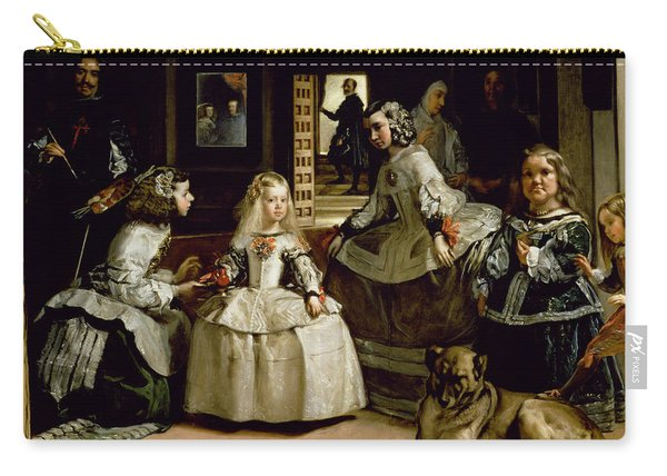 Las Meninas, Detail Of The Lower Half Depicting The Family Of Philip Iv Of Spain, 1656 Carry-all Pouch