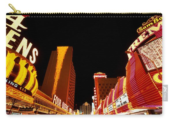 Las Vegas Looking Down Fremont Street Carry-all Pouch