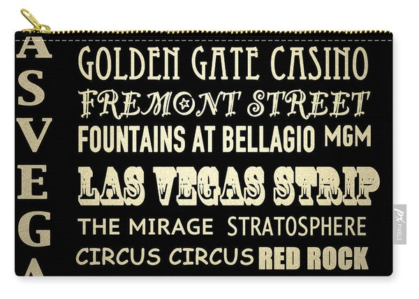 Las Vegas Nevada Famous Landmarks Carry-all Pouch