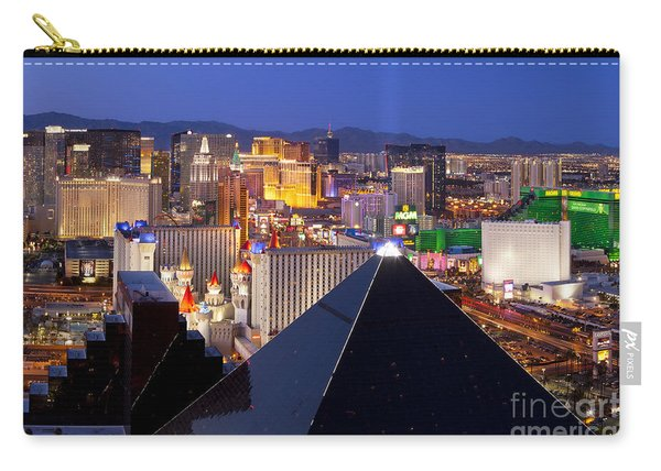 Carry-all Pouch featuring the photograph Las Vegas Skyline by Brian Jannsen