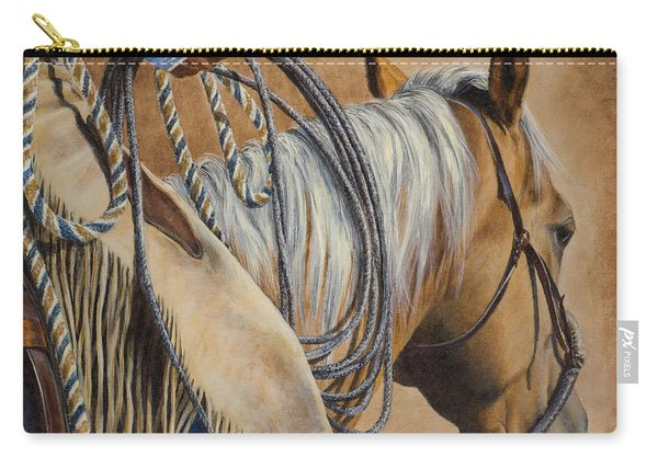 Lariat And Leather Carry-all Pouch