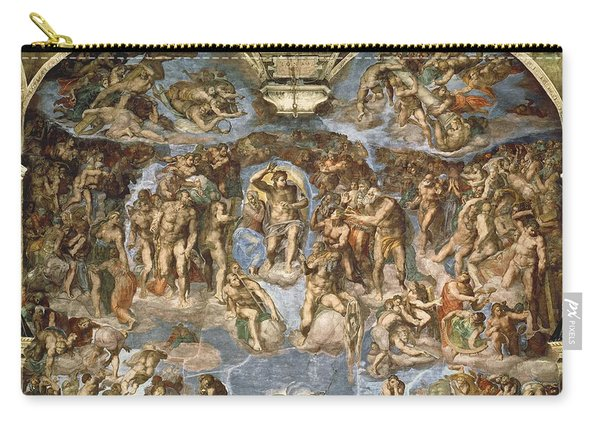 Last Judgement, From The Sistine Chapel, 1538-41 Fresco Carry-all Pouch