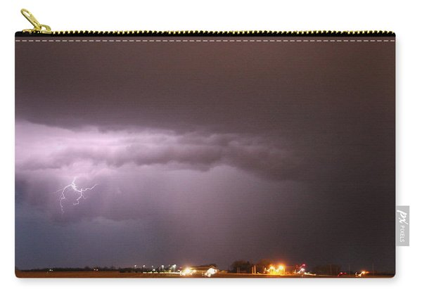 Carry-all Pouch featuring the photograph Late Evening Nebraska Thunderstorm by NebraskaSC