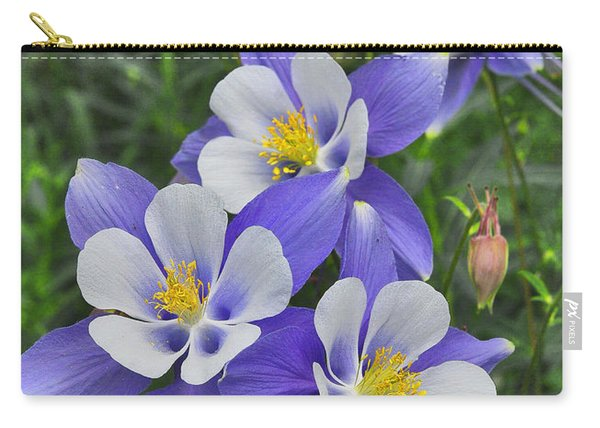 Carry-all Pouch featuring the digital art Lavender And White Star Flowers by Mae Wertz