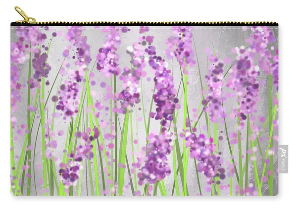 Lavender Blossoms - Lavender Field Painting Carry-all Pouch