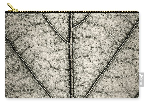 Leaf Texture In Sepia Carry-all Pouch