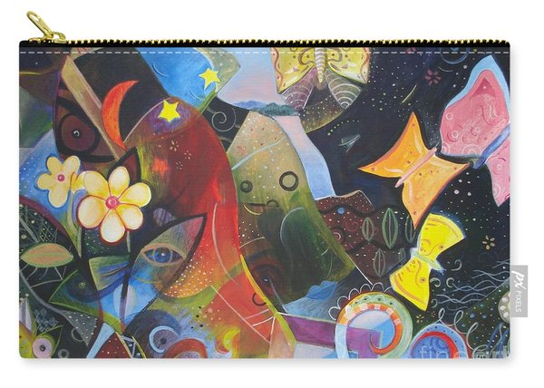 Carry-all Pouch featuring the painting Learning To See by Helena Tiainen