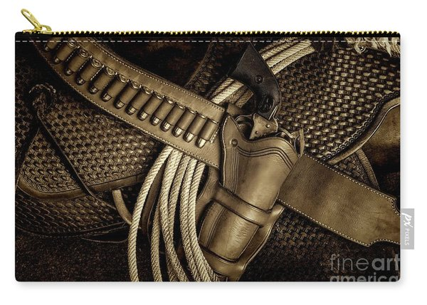 Leather And Lead Carry-all Pouch