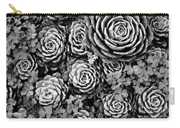 Leaves And Succulents Carry-all Pouch