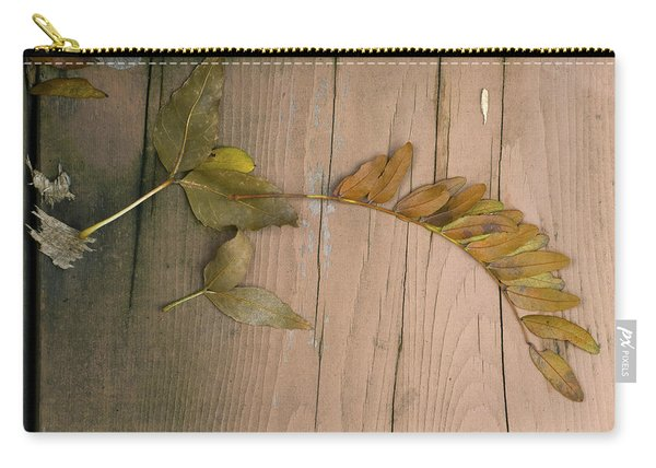 Leaves On A Wooden Step Carry-all Pouch