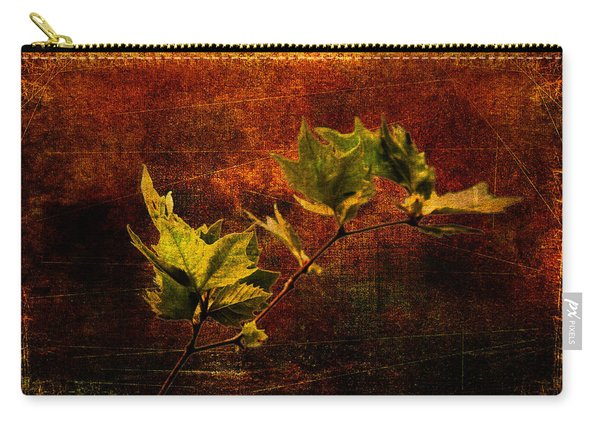 Leaves On Texture Carry-all Pouch