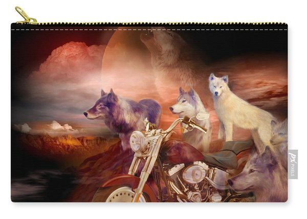 Legend Of Wolf Mountain Carry-all Pouch