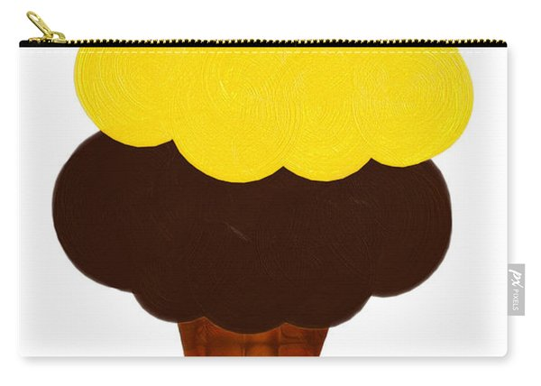 Lemon And Chocolate Ice Cream Carry-all Pouch
