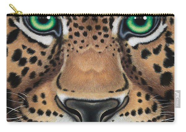 Wild Eyes Leopard Face Carry-all Pouch