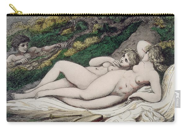 Lesbian Lovers In A Wood Carry-all Pouch