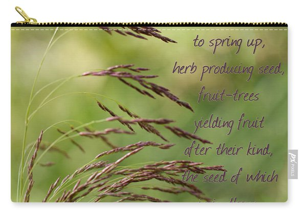 Let The Earth Bring Forth Grass Genesis Carry-all Pouch