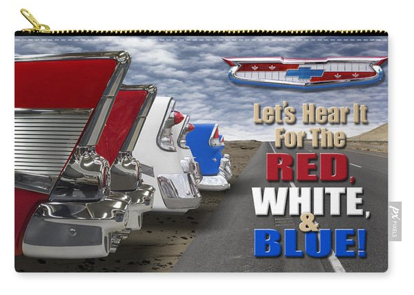 Lets Hear It For The Red White And Blue Carry-all Pouch