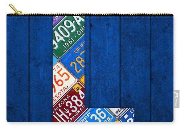 Letter L Alphabet Vintage License Plate Art Carry-all Pouch