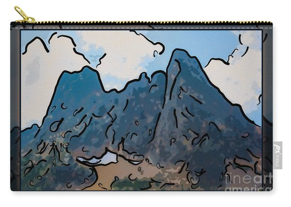 Liberty Bell Mountain Abstract Landscape Painting Carry-all Pouch