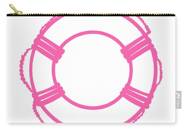 Life Preserver In Pink And White Carry-all Pouch
