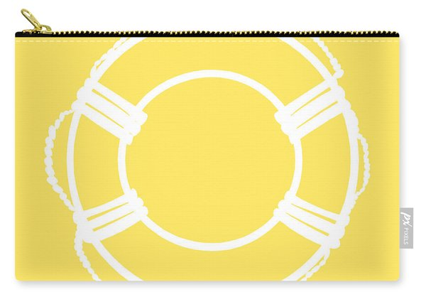 Life Preserver In White And Yellow Carry-all Pouch