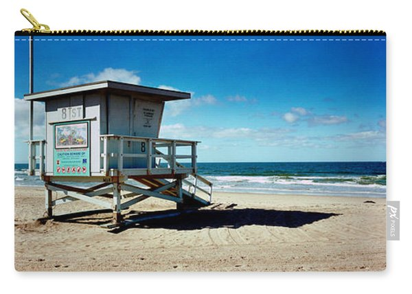 Lifeguard Hut On The Beach, 8th Street Carry-all Pouch