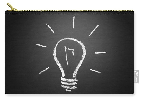 Light Bulb On A Chalkboard Carry-all Pouch