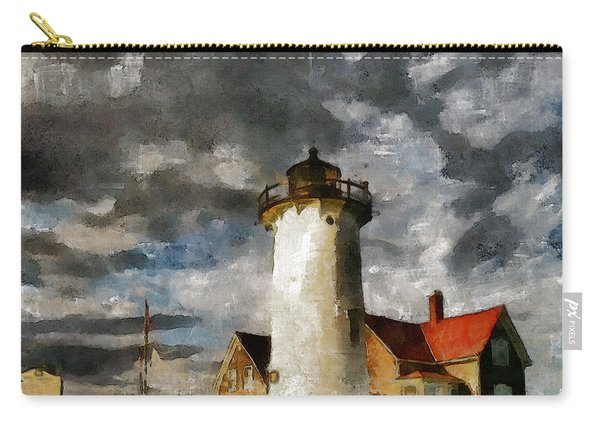 Light House In A Storm Carry-all Pouch