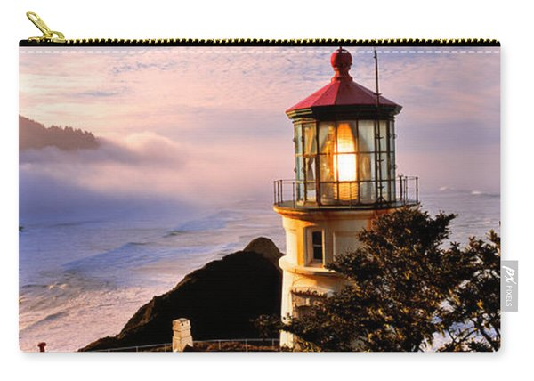 Lighthouse At A Coast, Heceta Head Carry-all Pouch