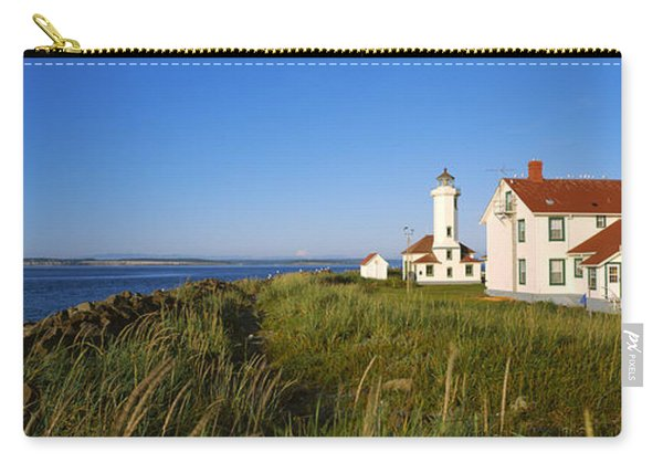 Lighthouse On A Landscape, Ft. Worden Carry-all Pouch