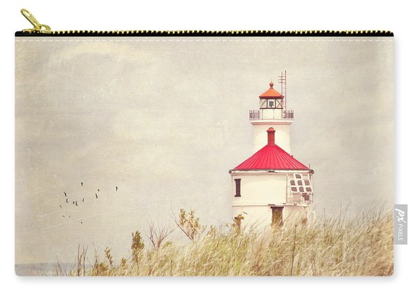Lighthouse With Red Roof Carry-all Pouch