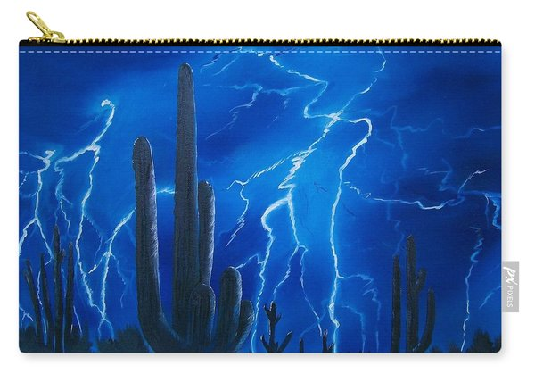 Lightning  Over The Sonoran Carry-all Pouch