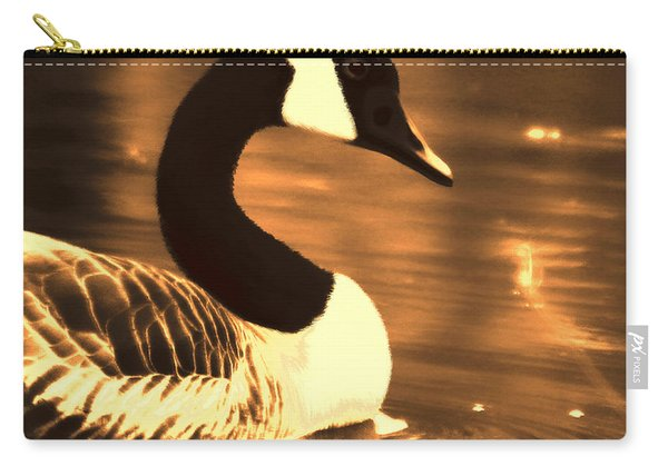 Lila Goose The Pond Queen Sepia Carry-all Pouch