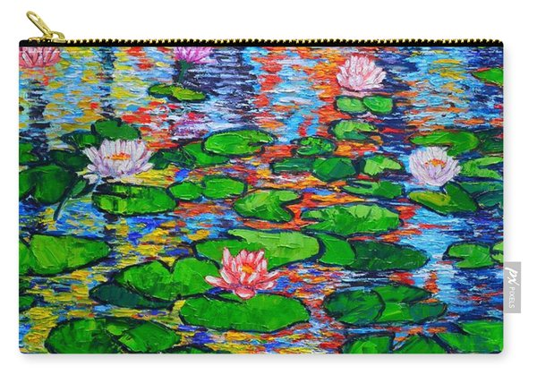 Lily Pond Colorful Reflections Carry-all Pouch