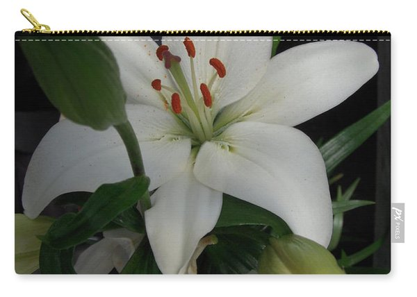 Lily White Carry-all Pouch