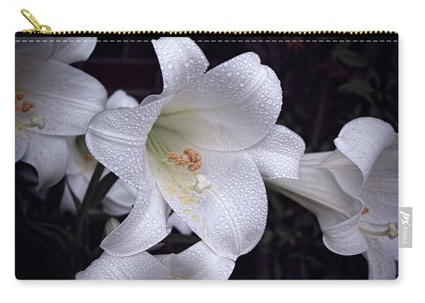 Lily With Rain Droplets Carry-all Pouch