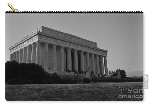 Lincoln Memorial Black And White Carry-all Pouch