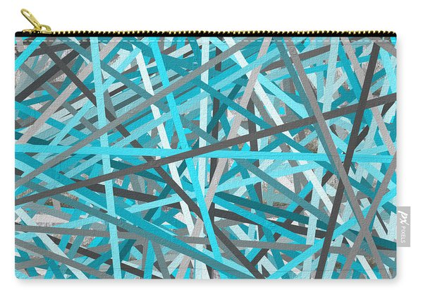 Link - Turquoise And Gray Abstract Carry-all Pouch