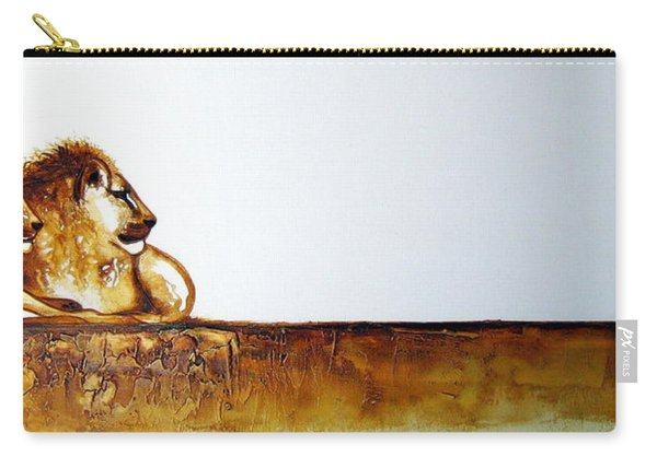 Lion And Lioness - Original Artwork Carry-all Pouch