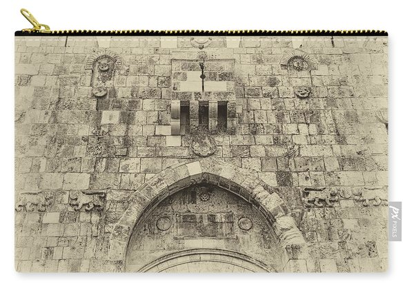 Lion Gate Jerusalem Old City Israel Carry-all Pouch