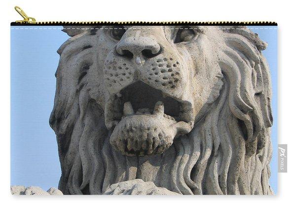 Lion Statue Chain Bridge Budapest Carry-all Pouch