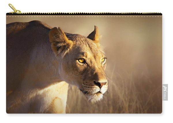 Lioness Portrait-1 Carry-all Pouch