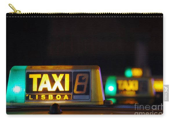 Lisbon Taxi Sign Carry-all Pouch