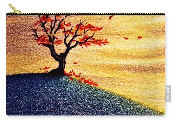 Little Autumn Tree Carry-all Pouch